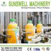 Instalaciones de relleno de la bebida automática de la botella de cristal de Sunswell