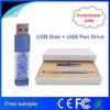 Movimentação ajustada do flash do USB da pena de cristal clássica do presente da alta qualidade