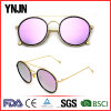 Ynjn Metal Frame Mirror Lenses Colorido UV400 Mulheres Óculos de sol
