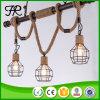 Indicatore luminoso Pendant della corda della canapa industriale dell'annata con stile del Birdcage