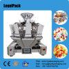 Pesador automático de Multihead y cosechadora hechura/relleno/soldadura vertical de la máquina en una unidad