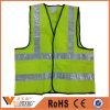 Revestimento reflexivo amarelo do trabalho de estrada da veste do sinal de advertência da segurança