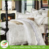 Custom Home Textile Hotel White bordado del lecho