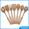 Salad en bois Server Spoons avec Handle