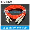 LC Fiber Optic Patch Cord (LC SM/MMのファイバーの光学ジャンパー)