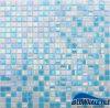 Telha azul Iridescent Gco044mg do mosaico do vidro de teste padrão do mosaico do banheiro