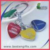 La figura del cuore lega la catena chiave con il marchio personalizzato