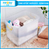 China 2015 Manufauturer de 35L Transparent Plastic Storage Box con Wheel