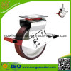 200mm Scaffolding Caster Witn Red PU auf Nylon Core Wheels