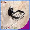 Fyeer schwarze Serien-Badezimmer-Beschlag-Messingseifen-Teller-Halterung