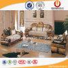 Sofá de madera de la tela del pasillo del hotel modificado para requisitos particulares para el apartamento del chalet (UL-Y616)