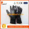 Gant noir d'enduit de latex balayé rayant les gants fonctionnants Dkl339 de sûreté