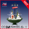 Pupazzi di neve Family Snowing Christmas Decoration con il LED Lights e Music