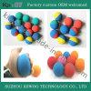 Esfera de borracha de salto elevada colorida da raquete da esfera