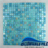 piscina Mosaic Tile (BGC014) di 15X15mm Blue Mix Hot Melt Glass