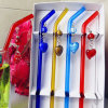 Paglia festiva di vetro Handmade degli articoli per la tavola della festa nuziale della cannuccia di mini di arte di giorno del biglietto di S. Valentino figura romantica del cuore