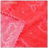 Terciopelo rojo del telar jacquar con el patrón del conejo para los niños
