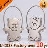 Disco del USB del metallo del USB del maiale (YT-1246-02)