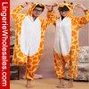 Pijamas animales de Onesie de la historieta de la jirafa unisex