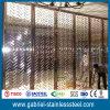 Feuille de partition d'écran en métal de coupure de laser de couleur du miroir 304 d'acier inoxydable d'or de Rose