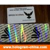 Recouvrement transparent d'hologramme de carte d'identification