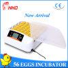 Hhdの自動56個の卵の鶏の卵の定温器Yz-56A