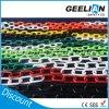 二重プラスチック注意カラー鎖のPE 6mm及び8mmのチェーン販売