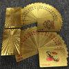 mazza della plastica delle schede di gioco del PVC della stagnola di oro 24k