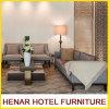 Holzrahmen-graues Leinencouch-Sofa eingestellt für Hotel-Rücksortierung