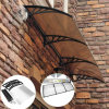 De openlucht Duidelijke Plastic Gebruikte Luifels van de Regen het afbaarden voor Verkoop (yy-B)