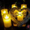 Decoração romântica segura da barra da igreja do casamento do aniversário da vela Flameless da luz do chá de controle remoto