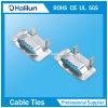 Fivela de fivela de aço inoxidável 304 Ear-Lokt com laço de comprimento livre