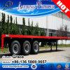 Flachbett-halb Schlussteil der China-Hersteller-Großhandelspreis-Tri Wellen-20FT 40FT