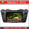 Reproductor de DVD del coche para el reproductor de DVD de Pure Android 4.4 Car con A9 CPU Capacitive Touch Screen GPS Bluetooth para Mazda 5 2012 (AD-8120)