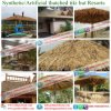 Telhado Thatched das folhas de palmeira artificiais sintéticas quentes do Thatch da venda