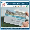Cartão transparente do PVC do plástico da impressão Offset