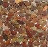 Mosaico liso do seixo da cor vermelha