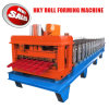 Hky PLCの機械を形作る自動着色された鋼鉄艶をかけられた屋根瓦ロール