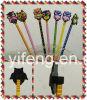 Regalos promocionales del lápiz del PVC de la aduana 3D de los primeros de goma del encanto