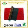 Flocage de la natte de trappe en caoutchouc de natte d'étage de tapis de tissu
