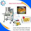 中国製機械を形作るハンバーガー肉パティー