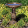 Polyresin Birdbath/Bird Feeder para o jardim Decoration
