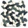 Mattonelle di pietra poco costose in bianco e nero