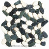 Telha de pedra barata preto e branco