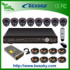 H. 264 Waterproof IR CCTV Camera 8CH DVR Kits (BE-8108V8ID)