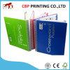 Spiral Binding Libro de tapas duras Impresión / Libro encuadernado de cuero de impresión