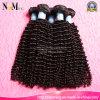 Cabelo humano natural da cor natural em linha profunda indiana da onda do cabelo do Virgin