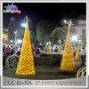 Luzes ao ar livre da corda da decoração do feriado da rua da árvore de Natal do diodo emissor de luz