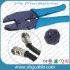 Het Hulpmiddel van de Golfplaat van de hexuitdraai voor Rg59 RG6 Rg11 de Coaxiale Schakelaar van de Golfplaat van de Kabel F (nt-H301X)