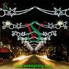 Decoração da estrela da fantasia da luz de rua da cruz do motivo do Natal do diodo emissor de luz